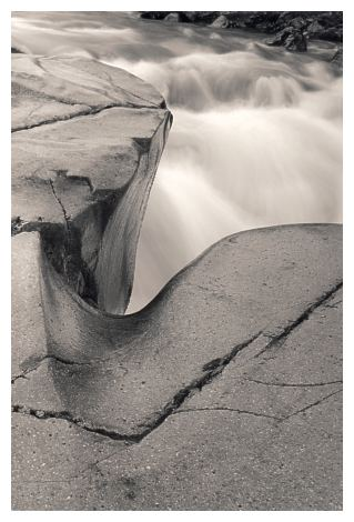 River and Rock, Glen Etive (29KB)